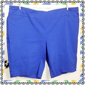 {Apt.9} blue pull-on stretch Bermuda shorts sz 22W